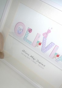 Girls Name on a Shelf 3