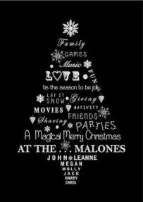 Malones Xmas Print