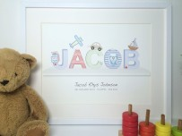 personalised print name jacob