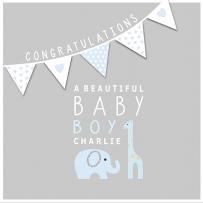 Beautiful baby boy card