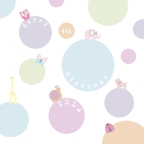 GIRLS BUBBLES CARD