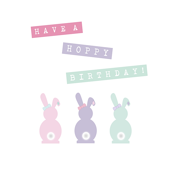 Have A Hoppy Birthday Card Little Letters With Love