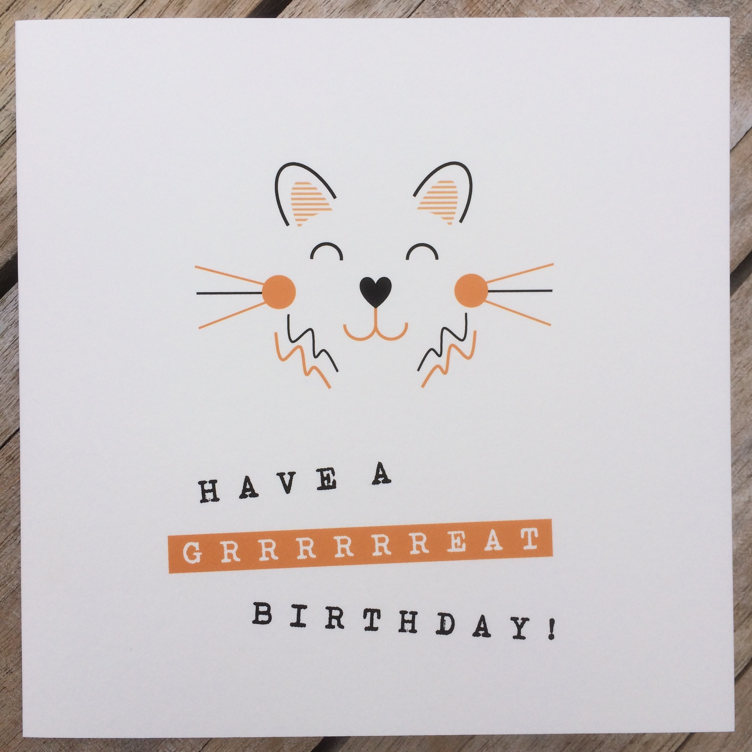 Personalised Birthday Card Tiger Little Letters With Love