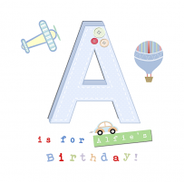 a is for alfies birthday