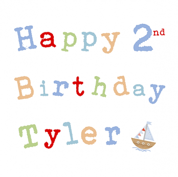 age & name boys birthday card