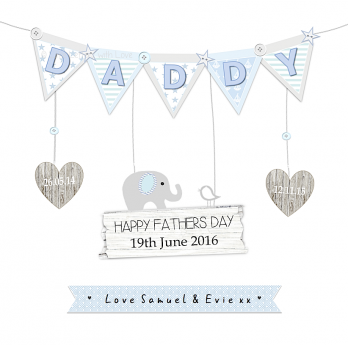 Daddy card bunting