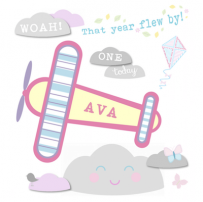 Girl Airplane card