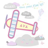 Girl Airplane card