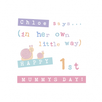 1ST MOTHERS DAY GIR